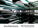 abstract dynamic interior with...   Shutterstock . vector #757221253