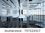 abstract dynamic interior with...   Shutterstock . vector #757223317