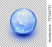 transparent soft gel capsule...   Shutterstock .eps vector #757263757