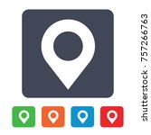 location pin icon | Shutterstock .eps vector #757266763