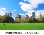 new york city manhattan central ... | Shutterstock . vector #75728437