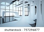 abstract dynamic interior with... | Shutterstock . vector #757296877