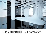 abstract dynamic interior with... | Shutterstock . vector #757296907