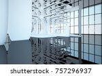 abstract dynamic interior with... | Shutterstock . vector #757296937