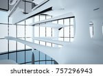 abstract dynamic interior with... | Shutterstock . vector #757296943