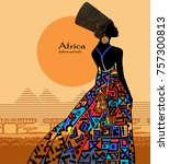 silhouette of an egyptian...   Shutterstock .eps vector #757300813