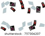 casino playing cards are...   Shutterstock .eps vector #757306207