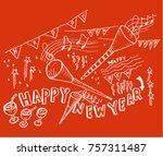 new year  sketch   Shutterstock .eps vector #757311487