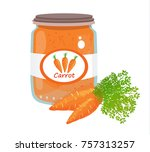 carrot puree vector | Shutterstock .eps vector #757313257