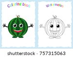 coloring book page for...   Shutterstock .eps vector #757315063