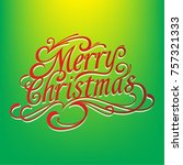 merry chistmas sign   Shutterstock .eps vector #757321333