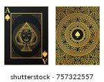 vector set of thai tradition... | Shutterstock .eps vector #757322557