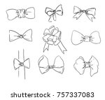 hand drawn sketch bow  bow... | Shutterstock .eps vector #757337083
