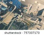 medical technique in the modern ... | Shutterstock . vector #757337173
