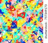 abstract 1980 memphis geometric ...   Shutterstock .eps vector #757349173