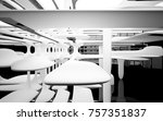 abstract dynamic interior with... | Shutterstock . vector #757351837