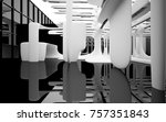abstract dynamic interior with... | Shutterstock . vector #757351843