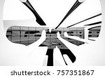 abstract dynamic interior with... | Shutterstock . vector #757351867