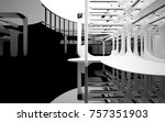 abstract dynamic interior with... | Shutterstock . vector #757351903