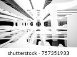 abstract dynamic interior with... | Shutterstock . vector #757351933