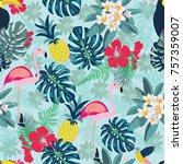 seamless decorative pattern... | Shutterstock .eps vector #757359007