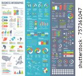 Infographic vector elements for business illustration in flat style. | Shutterstock vector #757361047