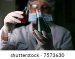 chemistry   lab worker | Shutterstock . vector #7573630