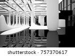 abstract dynamic interior with... | Shutterstock . vector #757370617