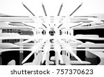 abstract dynamic interior with... | Shutterstock . vector #757370623