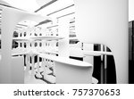 abstract dynamic interior with... | Shutterstock . vector #757370653