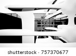 abstract dynamic interior with... | Shutterstock . vector #757370677