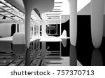 abstract dynamic interior with... | Shutterstock . vector #757370713
