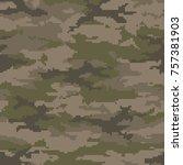 digital camouflage pattern ... | Shutterstock .eps vector #757381903