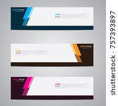 banner background.modern... | Shutterstock .eps vector #757393897