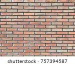 abstract bricks wall as... | Shutterstock . vector #757394587
