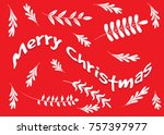 merry christmas card | Shutterstock .eps vector #757397977