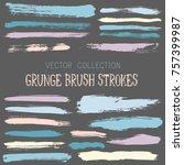 hipster paint brush strokes... | Shutterstock .eps vector #757399987