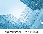 modern glass skyscraper...   Shutterstock . vector #75741103