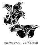 a heraldic floral filigree... | Shutterstock .eps vector #757437103