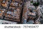 drone photo of london  mayfair.  | Shutterstock . vector #757453477