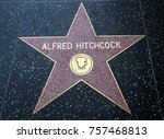 alfred hitchcock's star ... | Shutterstock . vector #757468813