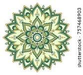 ethnic ornamental mandala.... | Shutterstock .eps vector #757468903