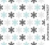 seamless christmas background... | Shutterstock .eps vector #757490257