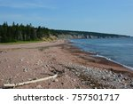 carbot trail in cape breton... | Shutterstock . vector #757501717