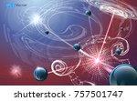 futuristic nanotechnology... | Shutterstock .eps vector #757501747