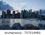 buildings in lower manhattan... | Shutterstock . vector #757514983