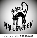 halloween illustration with... | Shutterstock .eps vector #757520407