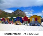 bathhouses in south africa ... | Shutterstock . vector #757529263