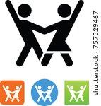 tango dancing icon | Shutterstock .eps vector #757529467
