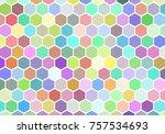 colorfuls retro hexagon... | Shutterstock .eps vector #757534693